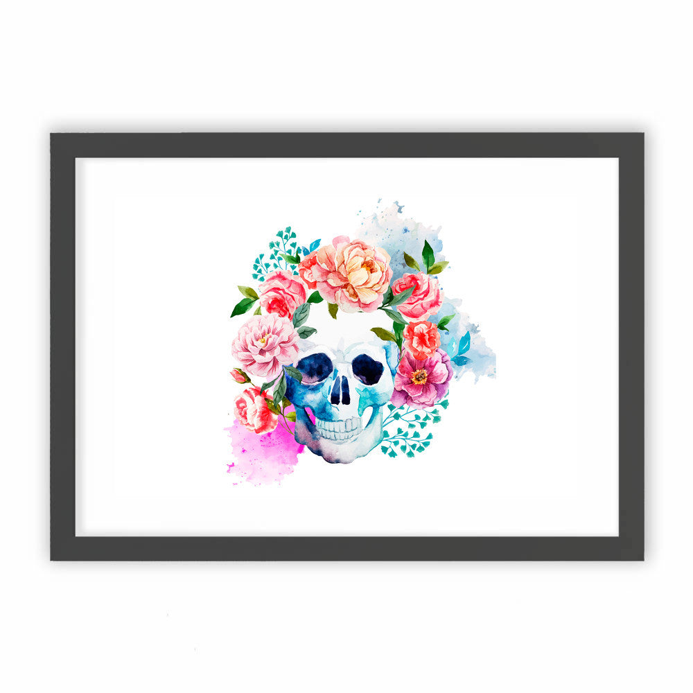 Beautiful Floral Skull by cadinera  - cadinera, Visualtroop - 1