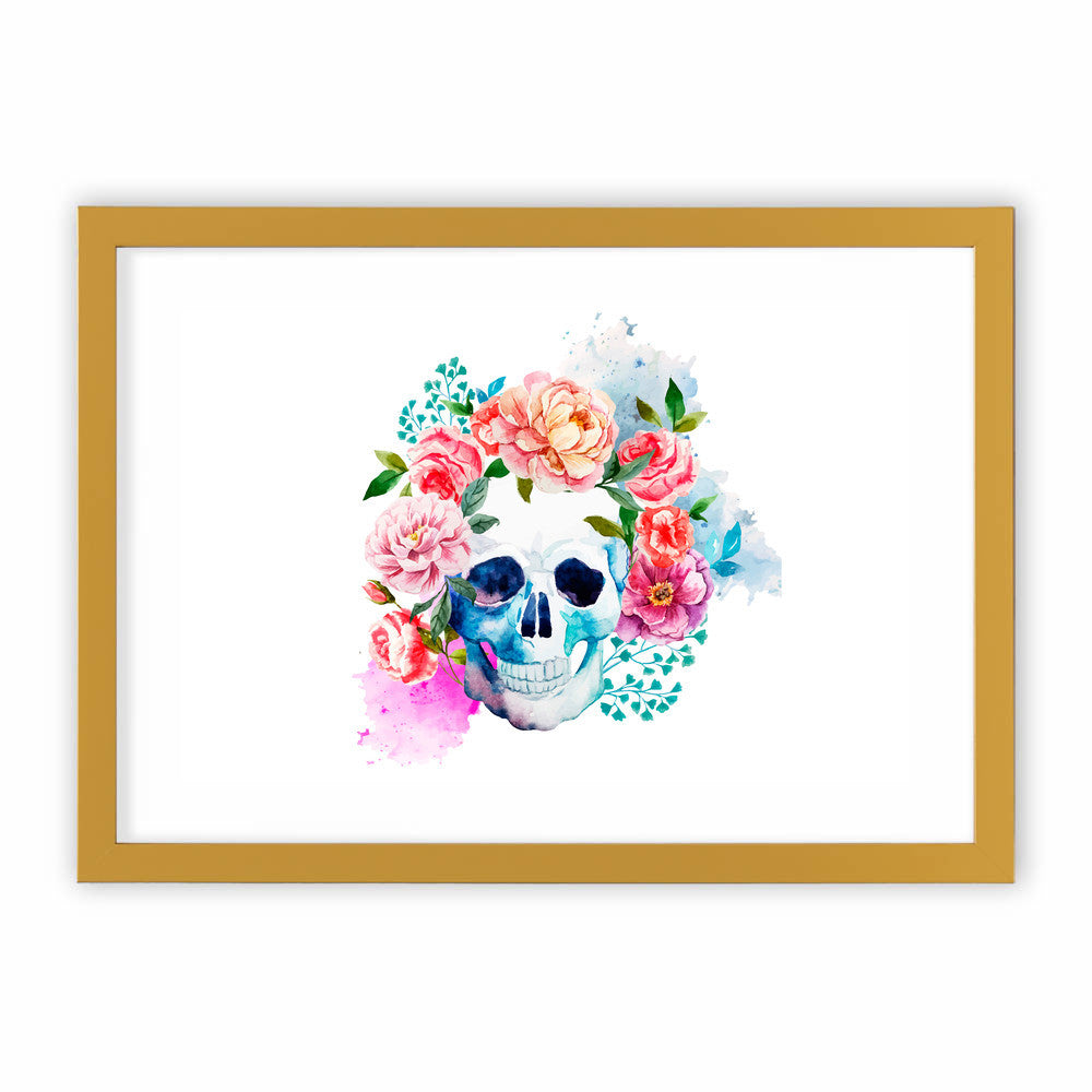 Beautiful Floral Skull by cadinera  - cadinera, Visualtroop - 4