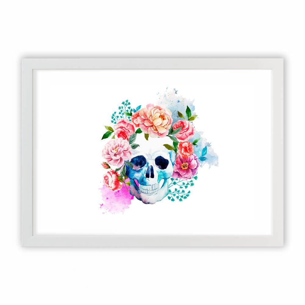 Beautiful Floral Skull by cadinera  - cadinera, Visualtroop - 2