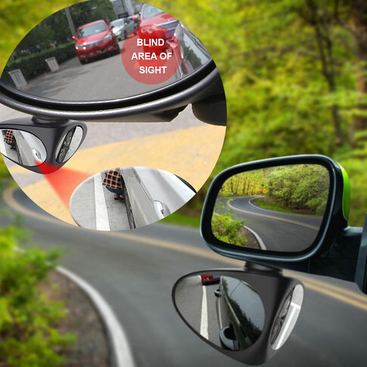 Parking Mirror 360° Rotatable 2 Side Convex Mirror(2PCS)