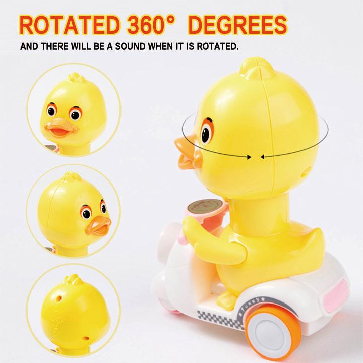 Pull Back Toy Duck on Motorcycle