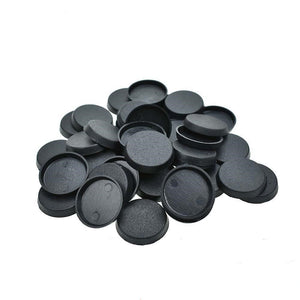 25mm Plastic Round Bases (Qty: 40)