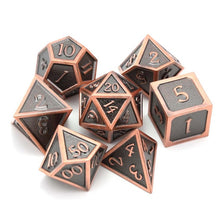 Load image into Gallery viewer, Metal Dice Set Copper & Black