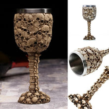 Load image into Gallery viewer, Stainless Steel Skulls and Spine Goblet