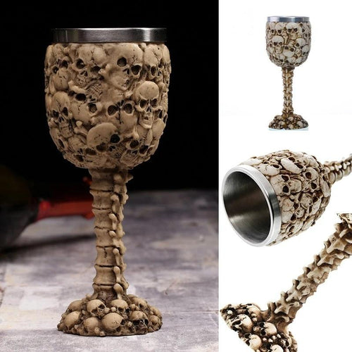 Stainless Steel Skulls and Spine Goblet
