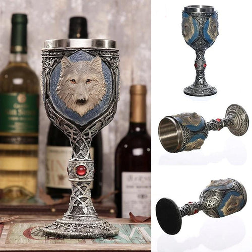 Stainless Steel Wolf Goblet