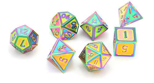 Metal Dice Set Iridescent