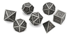 Load image into Gallery viewer, Metal Dice Set Iron and Black