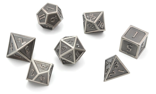 Metal Dice Set Iron and Black