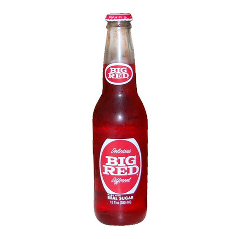 Big Red Glass Bottled Soda Real Sugar