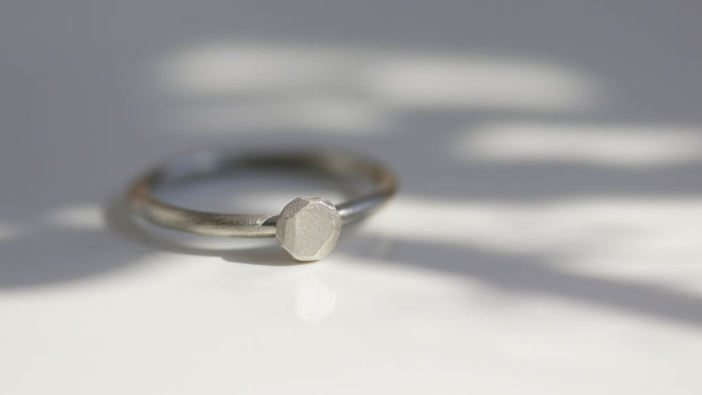 Silver Stand-in Proposal Rings