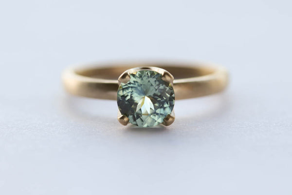 Portuguese Cut Malawi Fair-trade Sapphire Engagement Ring