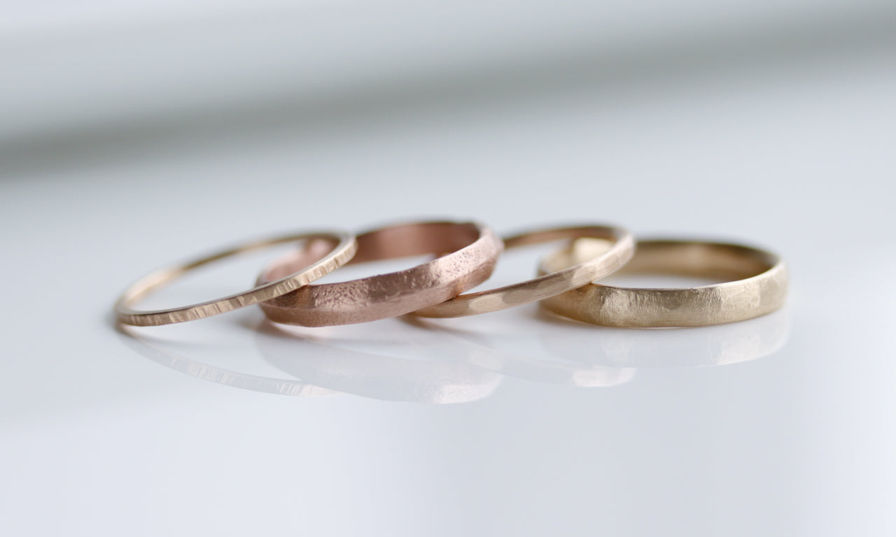 Textured Women's Wedding Bands