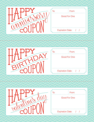 Anniversary Coupon Template Idas Ponderresearch Co