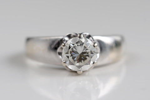 Customer Antique Enagement Ring Diamond Resetting