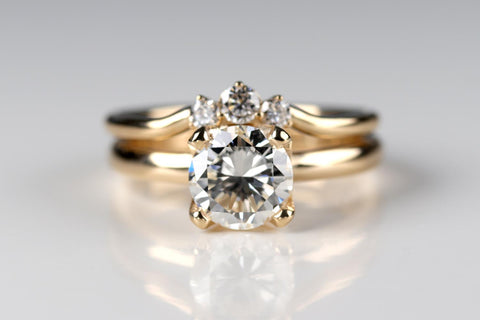 Customer Heirloom Diamond Engagement Ring Set