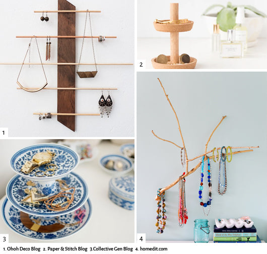 image of 4 DIY ring organizer ideas from bloggers found on the internet