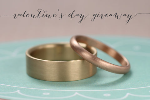 Valentine's Wedding Band Gift Certificate Giveaway
