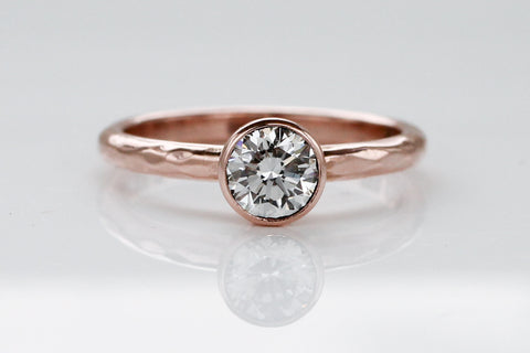 Diamond and Rose Gold Engagement Ring for Kristen