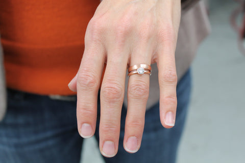 kristens engagement ring and wedding band - Wedding Band Engagement Ring