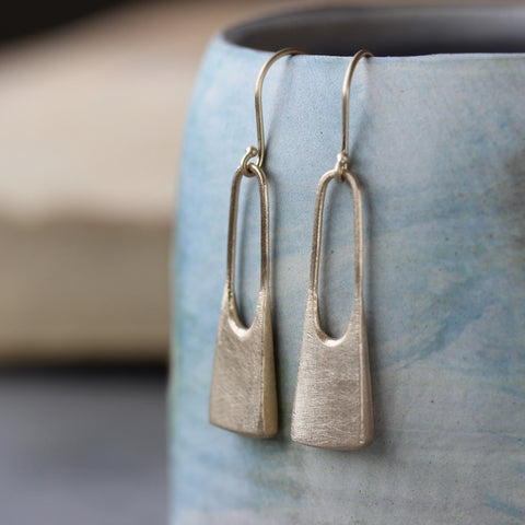 Large Padlock Earrings