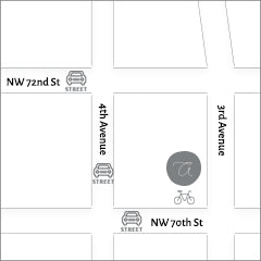 Image of map showing A-M shop location