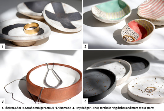 image of ceramic ring dishes available at the the Aide-mémoire shop