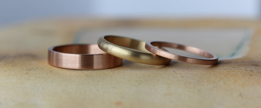 Recycled and Conflict-free Women's Wedding Bands and Engagement Rings