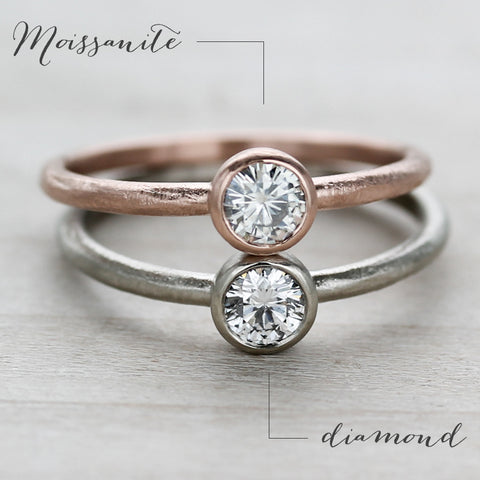 Diamond Vs Moissanite Vs White Sapphire Aide M 233 Moire