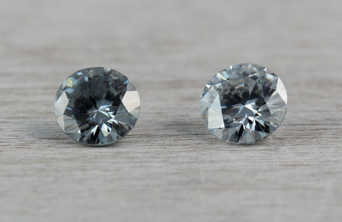 grey moissanite, 5mm round
