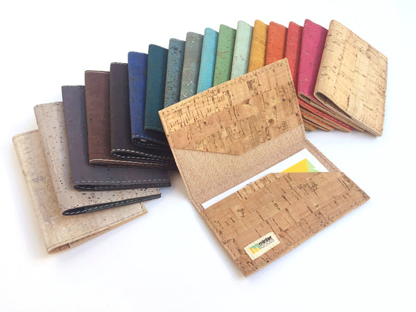 Minter Goods' cork business card cases, handmade in Seattle