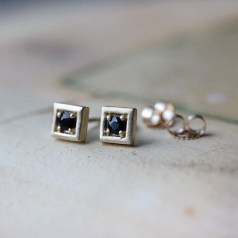 Square Stud Earrings