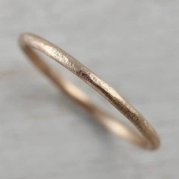 Rustic Textured Round Stacking Ring
