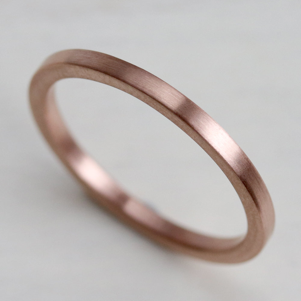 Smooth Square Band Ring