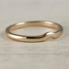 Crown Contour Shadow Band, Women's Wedding Band - Aide-mémoire Jewelry