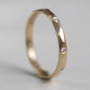 Flush-Set Smooth Faceted Band, Women's Wedding Band - Aide-mémoire Jewelry