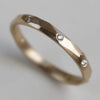 Flush-Set Smooth Faceted Band >7.25, Women's Wedding Band - Aide-mémoire Jewelry