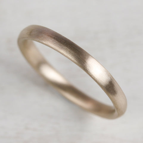 Narrow Hand-Carved Classic Wedding Band