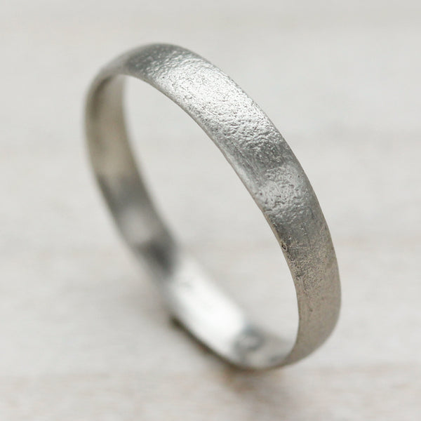 3mm Wide Ancient Textured Band •