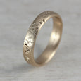 Size 7 - 14k Yellow Gold 4mm Concrete Band
