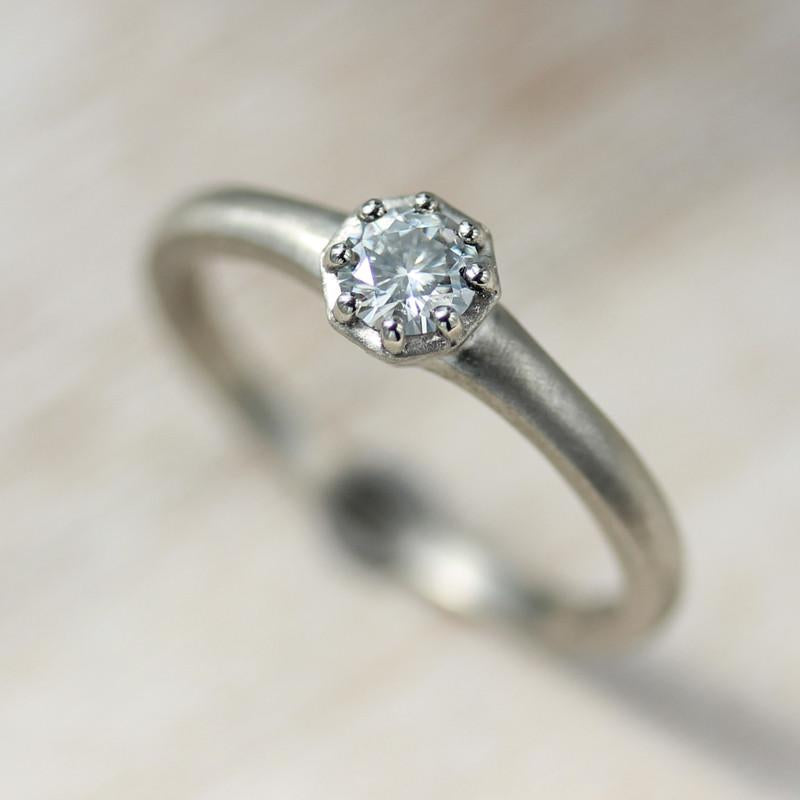 4mm Octagon Engagement Ring >7.25, Engagement Ring - Aide-mémoire Jewelry
