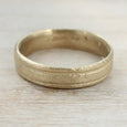 Ancient Texture Striped Ring >7.25, Women's Wedding Band - Aide-mémoire Jewelry
