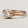 Cushion Cut Engagement Ring •