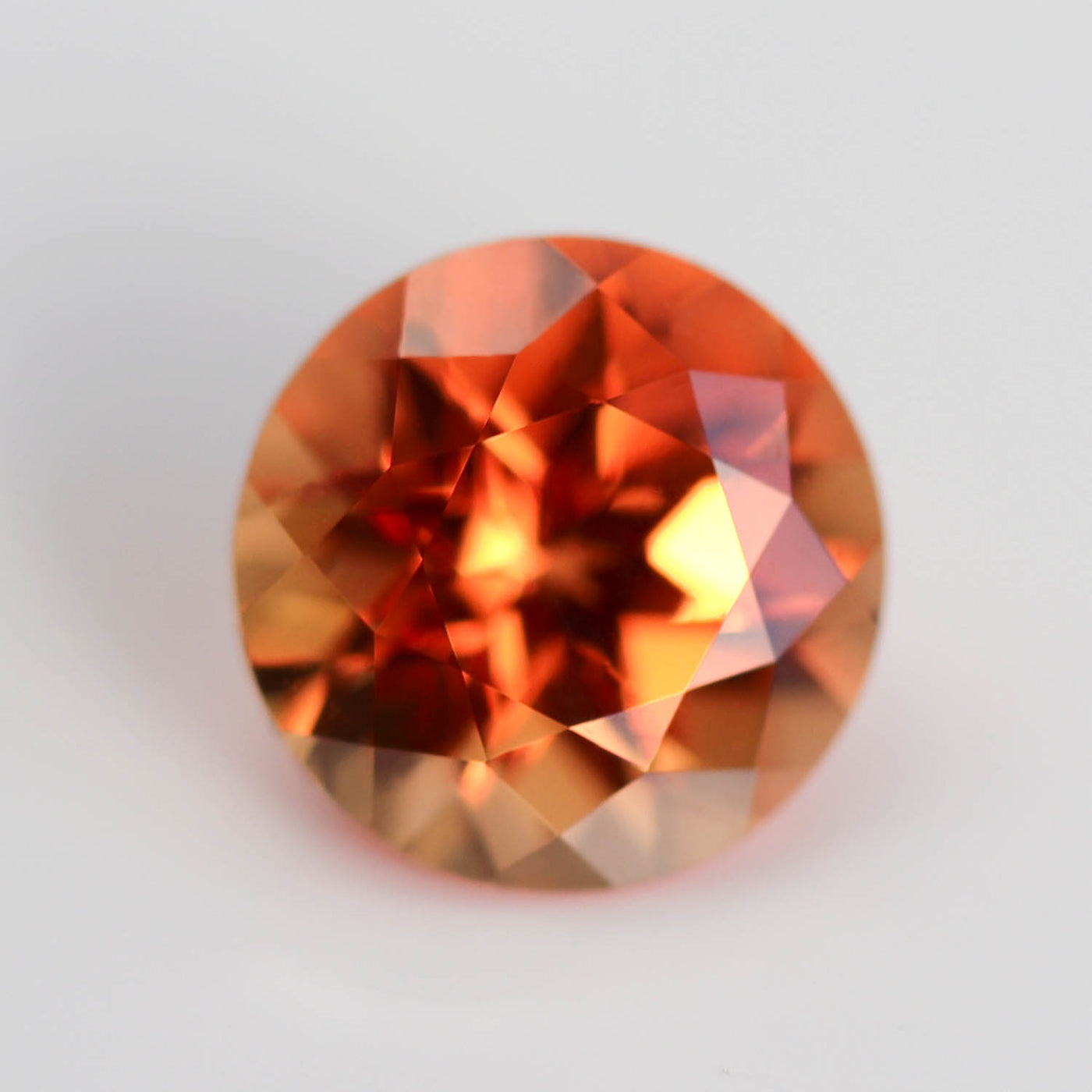 5mm Round Lab-grown Chatham Padparadscha Sapphire - 101950