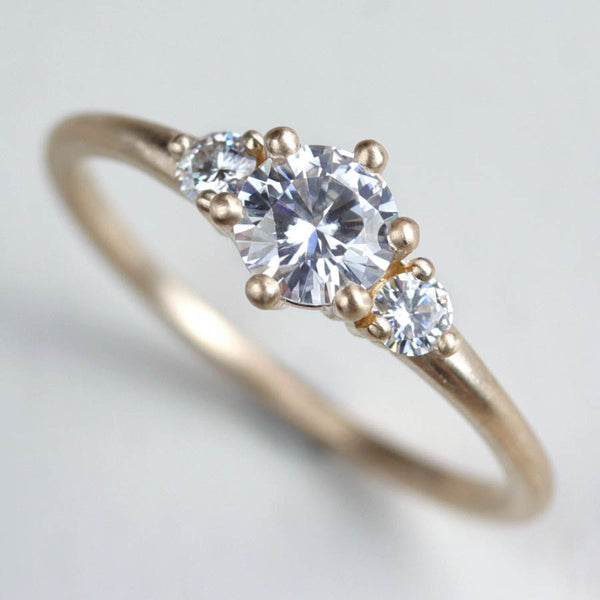 5mm Prong-set Three Stone Ring