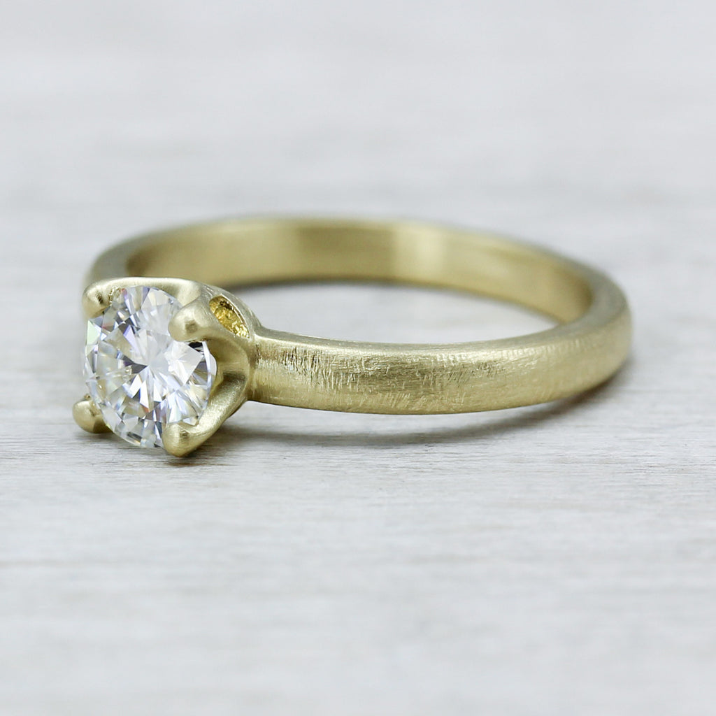 Rustic Crown Solitaire with Forever One Moissanite