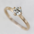 Edgeless Solitaire >7.25, Engagement Ring - Aide-mémoire Jewelry
