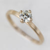 Women's Edgeless Solitaire in yellow gold and moissanite, Engagement Ring - Aide-mémoire Jewelry