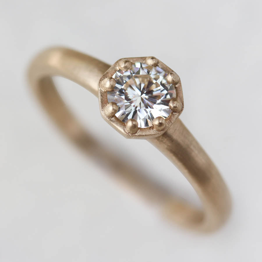 5mm Octagon Engagement Ring >7.25, Engagement Ring - Aide-mémoire Jewelry
