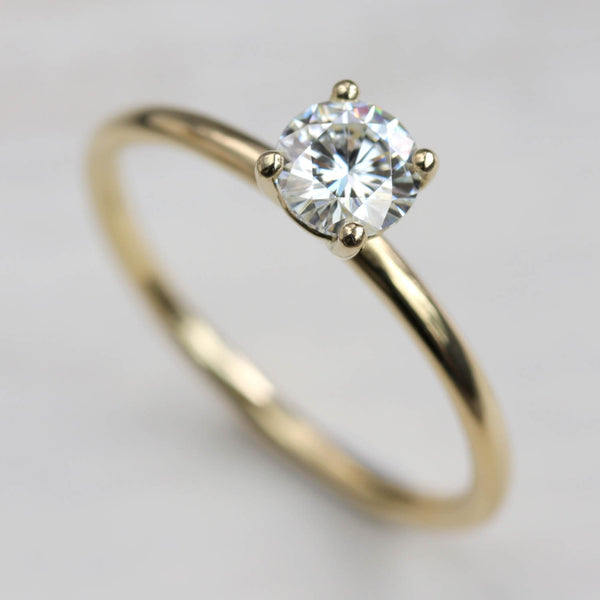 Size 6.5 - 5mm Basket Solitaire